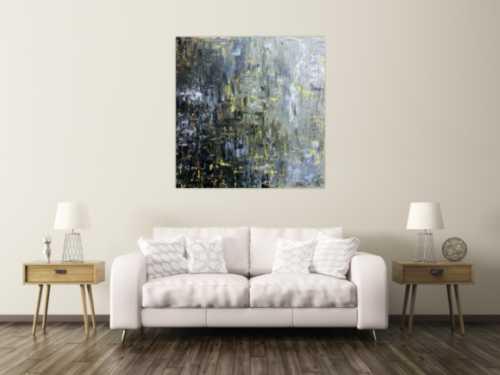 Modernes Gemälde abstrakt schlicht dunkle und helle Farben