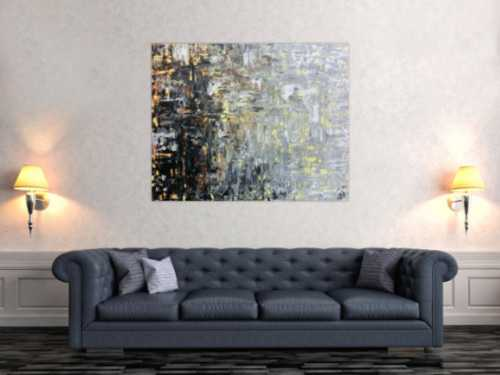 Modernes gemälde abstrakt mediterrane Farben