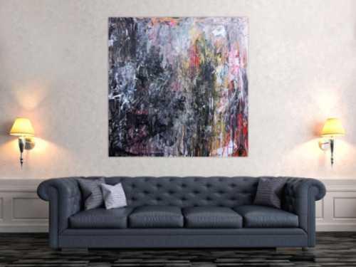 Abstraktes Gemälde aus Acryl dunkel und hell sehr modern Meisterwerk