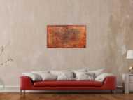 Abstraktes Gemälde aus echtem Rost modern schlicht