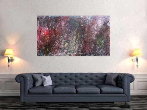 Abstraktes Gemälde dunkel modern zeitgenössisch schlicht meisterwerk