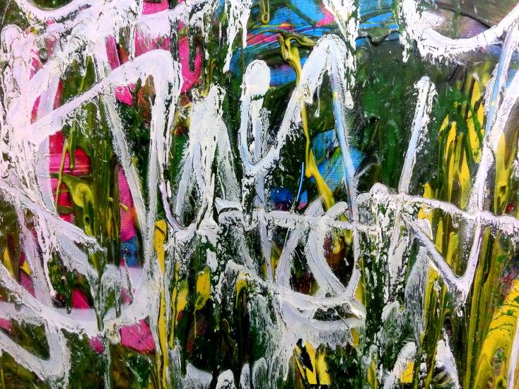 abstraktes acrylgem lde graffiti tags modern zeitgen ssisch bunt und wei auf leinwand 80x120cm. Black Bedroom Furniture Sets. Home Design Ideas