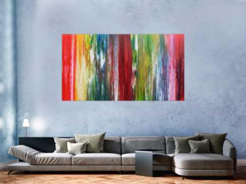 Buntes abstraktes Acrylbild modernes Gemälde viele Farben sehr bunt