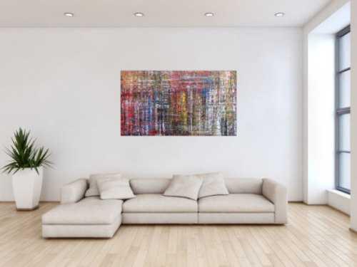 Abstraktes Acrylbild in Spachteltechnik sehr modern und zeitgenössisch