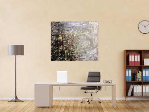 Modernes Gemälde abstrakt Spachteltechnik modernes Bild braun schwarz grau