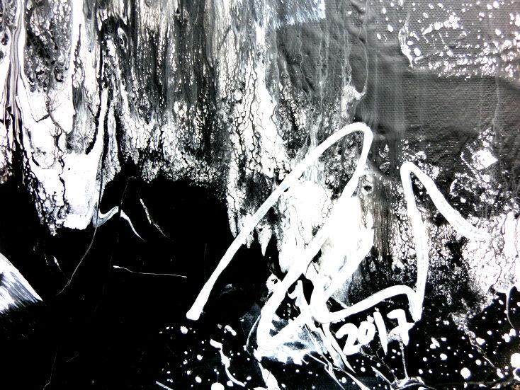 abstraktes gem lde schwarz wei minimalistisch triptychon. Black Bedroom Furniture Sets. Home Design Ideas