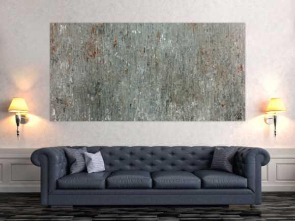 Abstraktes Acrylgemälde in grau und braun modern schlicht zeitgenössisch