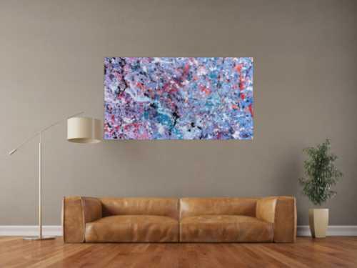 Abstraktes Acrylbild modernes Gemälde in lila pink violett helle Farben