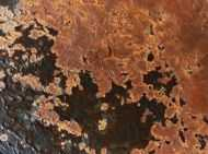Detailaufnahme Abstraktes Rostbild - Kunst aus Rost