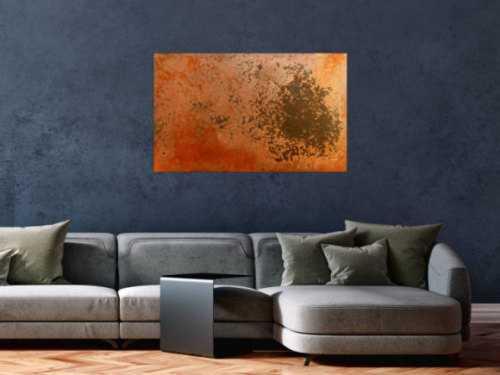 Abstraktes Rostbild - Kunst aus Rost
