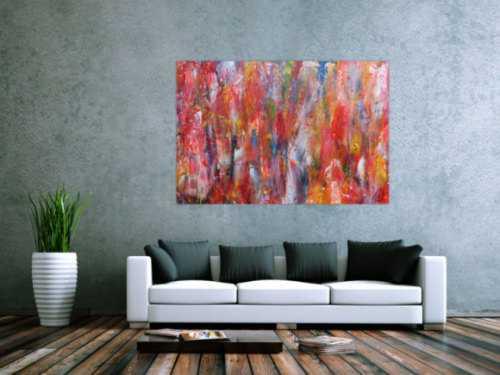 Abstraktes Acrylbild modernes Gemälde bunt zeitgenössische Malerei