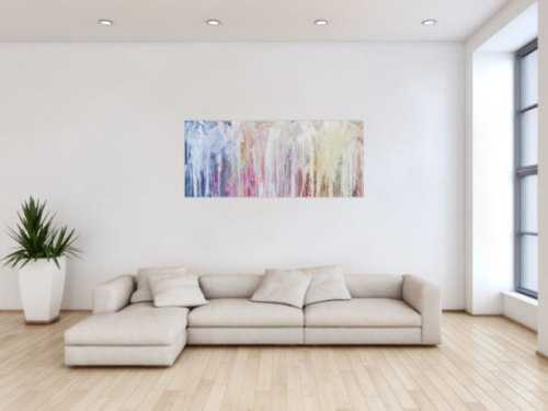 Modernes abstraktes Bild aus Acrylfarben Malerei in Fließtechnik