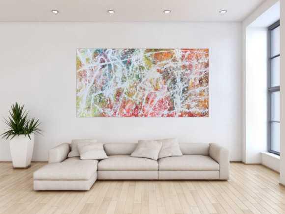 Freundliches helles Gemälde abstrakt Action Painting moderne helle bunte Farben