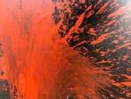 Detailaufnahme Abstraktes Bild rot schwarz minimalistisch Actionpainting Spritzer Blut