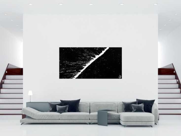 Schwarz Weiß Bilder Kaufen : minimalistisches acrylbild schwarz wei abstrakt modern ~ Indierocktalk.com Haus und Dekorationen