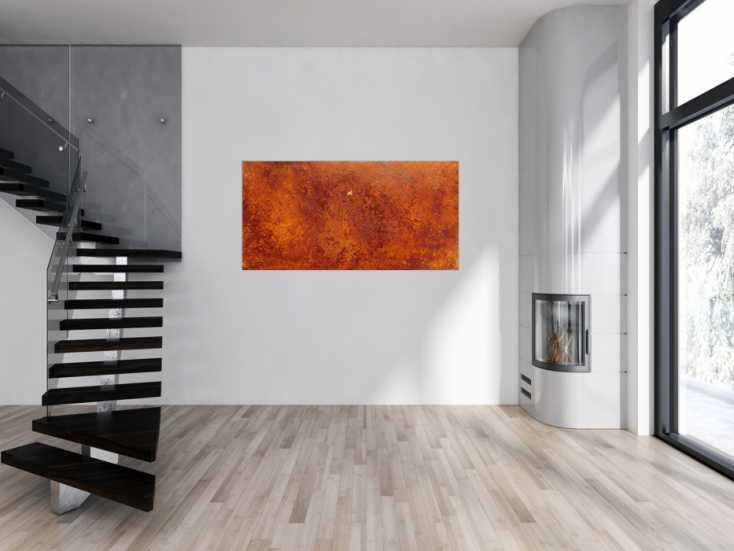 #922 Abstraktes Gemälde aus echtem Rost modernes Rostbild 80x160cm von Alex Zerr