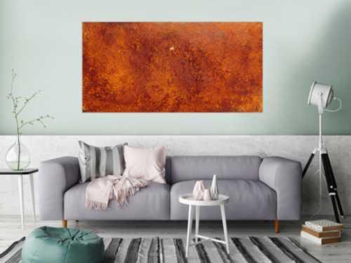 Abstraktes Gemälde aus echtem Rost modernes Rostbild