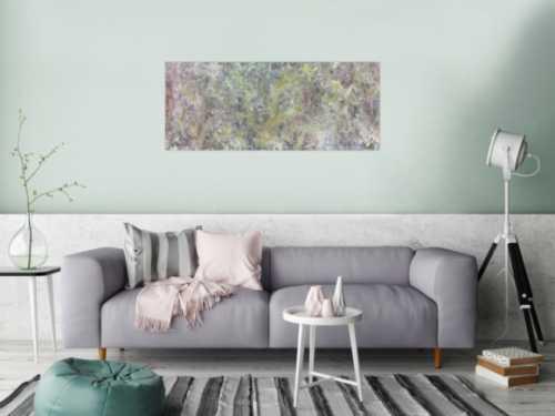 Abstraktes Acrylbild in Fließtechnik sehr modern