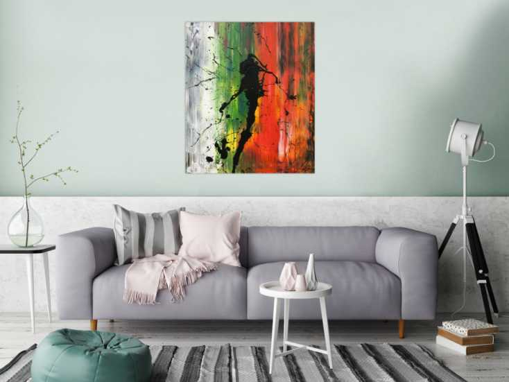 #926 Abstraktes Bild modernes Acrylgemälde Mischtechnik Actionpainting ... 100x80cm von Alex Zerr