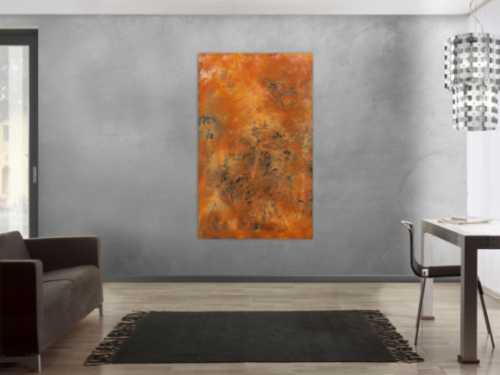Echtes Rostbild XXL - Abstrakte Kunst aus Rost