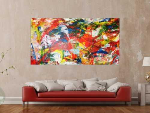 Abstraktes Acrylbild modern art bunt