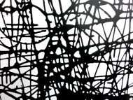 Detailaufnahme Abstraktes Acrylbild schwarz weiß minmalistisch schwarze Streifen sehr modern