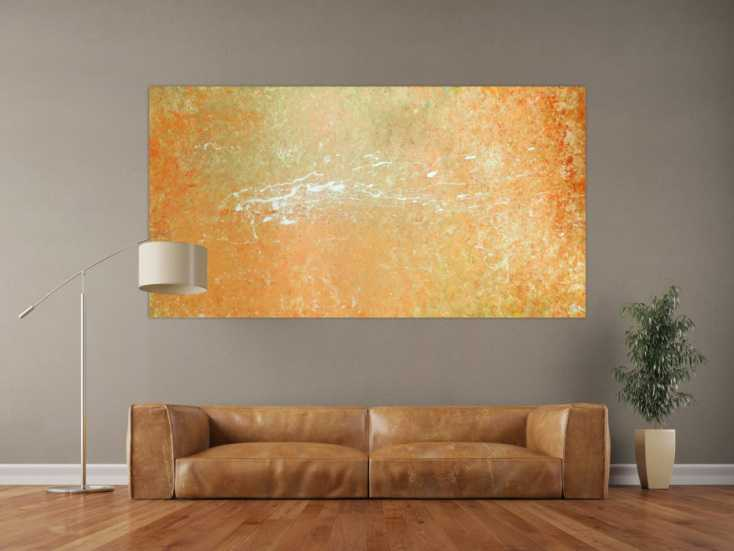 abstraktes acryl bild auf leinwand 100x200cm. Black Bedroom Furniture Sets. Home Design Ideas