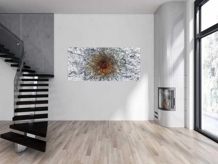 #968 Abstraktes Acrylbild in Mischtechtnik Acryl mit Rost sehr modern ... 80x180cm von Alex Zerr