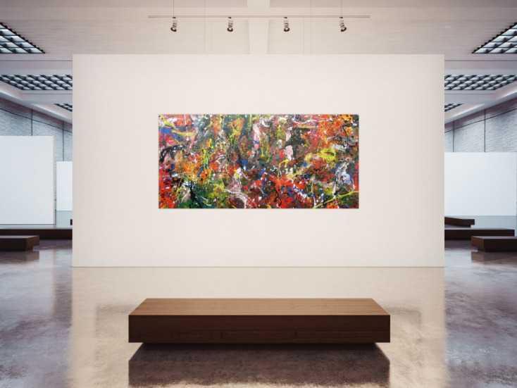 #993 Abstraktes Acrylbild sehr bunt Actionpainting modern und viele bunte ... 120x250cm von Alex Zerr