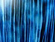 Detailaufnahme Abstraktes Acrylild blau dunkelblau in moderner Fließtechnik