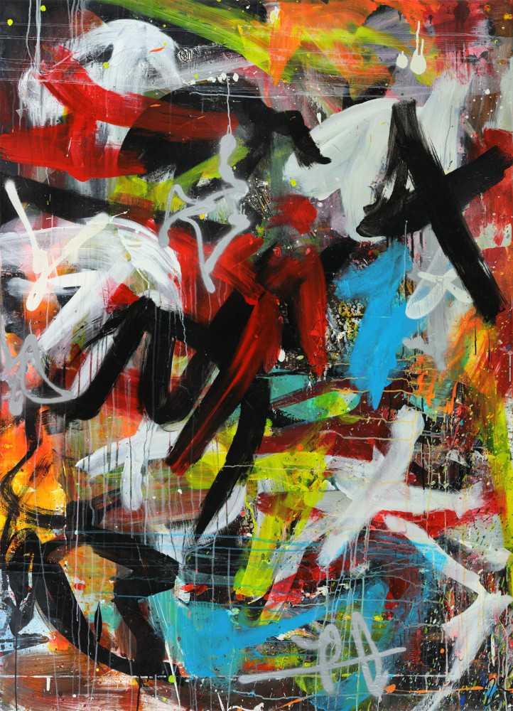 Hochwertige Kunst Auf Leinwand Abstraktes Acrylbild