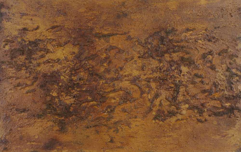 Modernes Gemälde aus echtem Rost Abstrakt starke Stuktur sehr modern expressionistisch