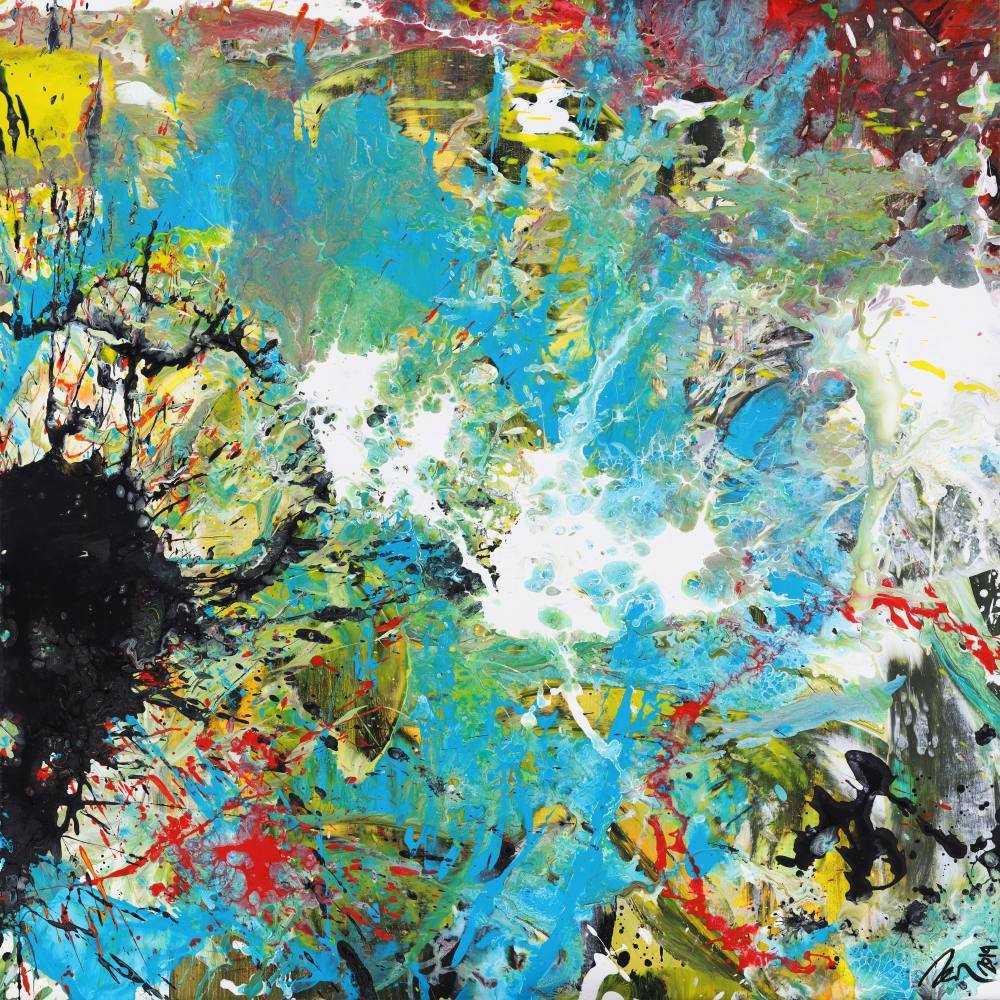 Abstraktes Acrylbild handgemalt Modern Art zwitgenössische Kunst auf Leinwand