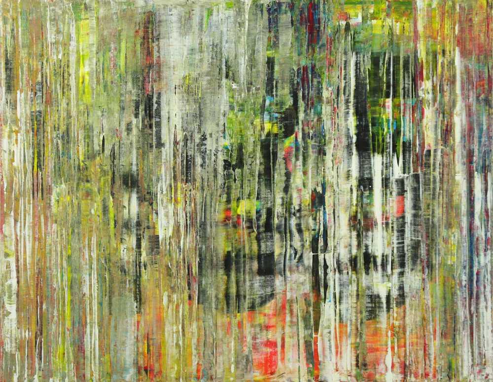 Abstraktes Gemälde Modern Art handgemalt auf Leinwand Spachteltechnik