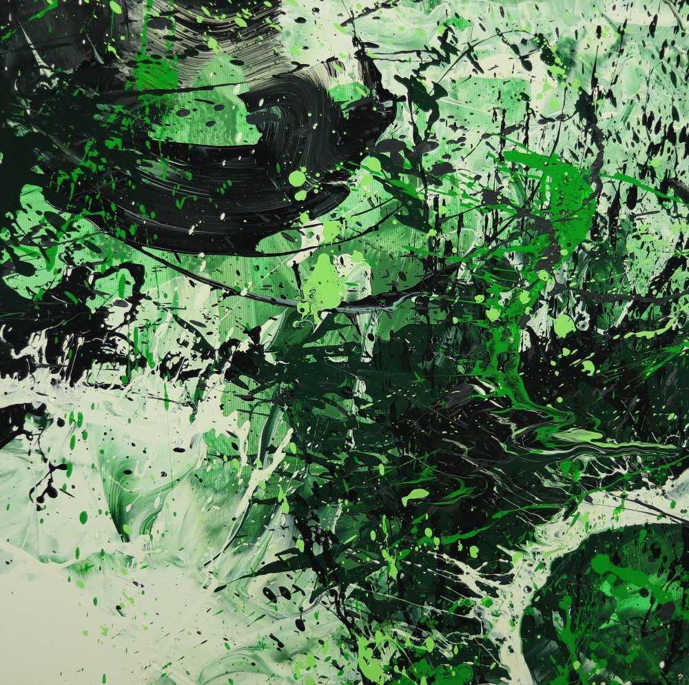 Abstraktes Gemälde handgemalt auf Leinwand Action Painting Modern Art