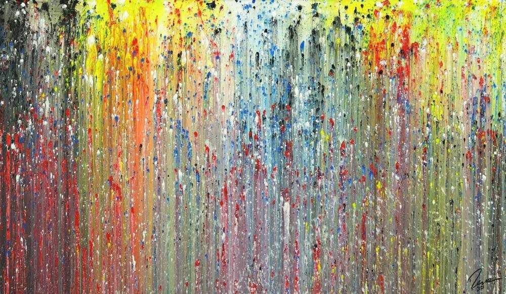 Abstraktes Acrylbild modernes Gemälde handgemalt Modern Art auf Leinwand zeitgenössisch