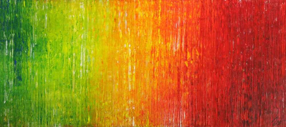 Abstraktes Original Gemälde 80x180cm Spachteltechnik Modern Art auf Leinwand sehr bunt hochwertig