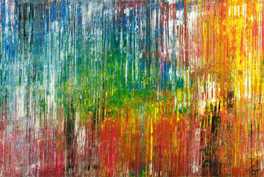 Gemälde Original abstrakt 120x180cm Spachteltechnik Moderne Kunst handgemalt bunte Farben Einzelstück