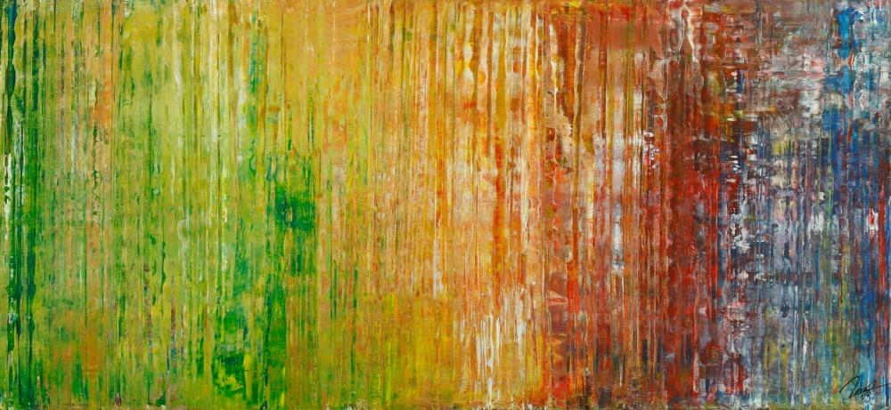 Gemälde Original abstrakt 80x180cm Spachteltechnik Moderne Kunst auf Leinwand bunt hochwertig