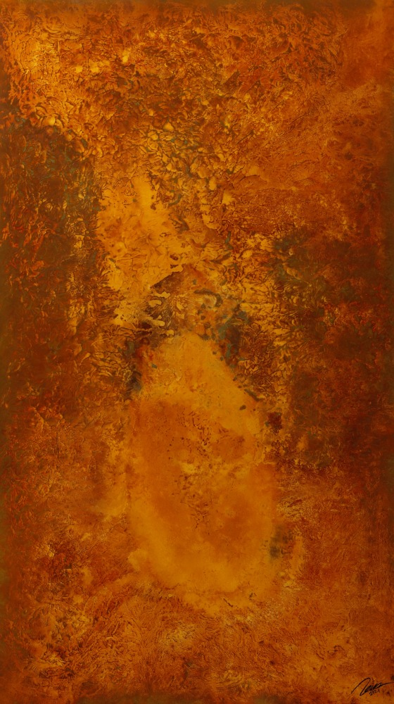 Original Gemälde abstrakt 180x100cm Aus echtem Rost Moderne Kunst auf Leinwand  braun rot einzigartig