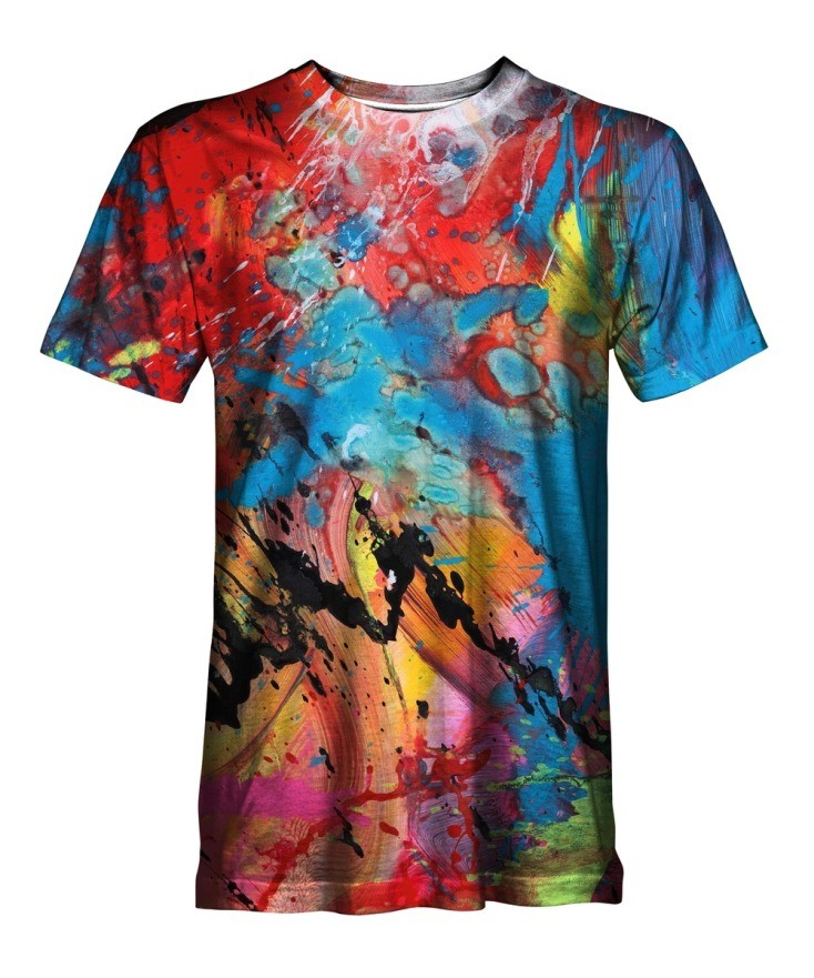 T-Shirt mit All Over Print in Ultra HD