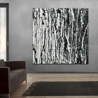 Abstrakte Gemälde in schwarz weiß online kaufen